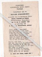 TURNHOUT..1961.. HEILIGE KINDERMISSIE / PASTOOR J. HEUVELMANS - Devotion Images