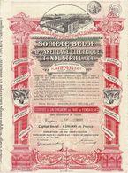 Titre Ancien - Société Belge D'Appareillage Electrique Et Industriel A.E.I.- Anciens Ets Stienlet - Titre De 1928 - Déco - Electricité & Gaz