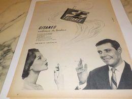 ANCIENNE PUBLICITE AMBIANCE DE BONHEUR GITANES 1958 - Posters