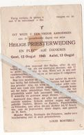 AALST..1945.. H. PRIESTERWIJDING LOUIS BOSTEELS - Devotion Images