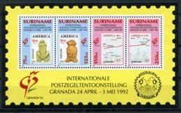 Suriname, 1992, Granada Stamp Exhibition, MNH, Michel Block 57 - Surinam