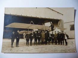 Rare Carte Photo Guerre 1914-1918 - Biplan - Fotos