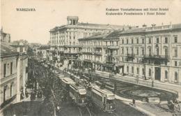 POLAND CACHET MILITAIRE MISSION MILITAIRE FRANCAISE EN POLOGNE VARSOVIE WARSZAWA KRATOWSKIE HOTEL BRISTOL GUERRE - Pologne