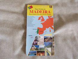 Madeira - Plan - Map - Mapa Turístico Da Madeira Ilhas Da Madeira,Porto Santo,Desertas E Selvagens - Cartes Géographiques