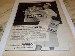 ANCIENNE   PUBLICITE DU NOUVEAU POUR VOUS  ASPRO 1958 - Altri