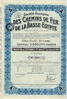 Titre Ancien - Société Anonyme Des Chemins De Fer De La Basse Egypte - Obligation De 250 Francs - Titre De1934 - N° 3769 - Chemin De Fer & Tramway