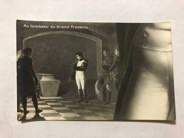 FRANCE - NAPOLEON - '' AU TOMBEAU DU GRAND FREDERIC ''  -  1905   -  POSTCARD - Photos