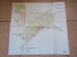 Portugal - Mapa Porto Santo - Madeira - Plan - Map - Cartes Géographiques