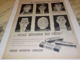 ANCIENNE PUBLICITE CIGARETTE AIMERONT LES FUMER VOUS AIMEREZ LES OFFRIR 1956 - Afiches