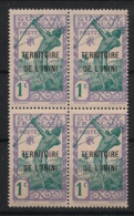 Inini - 1932 - N°Yv. 1 - Archer 1c - Bloc De 4 - Neuf Luxe ** / MNH / Postfrisch - Unused Stamps