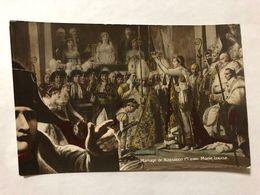 FRANCE - NAPOLEON - '' MARIAGE DE NAPOLEON 1er AVEC MARIE-LOUISE ''  -  1905   -  POSTCARD - Photos