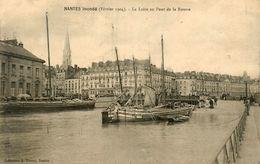 Nantes * La Loire Au Pont De La Bourse * Péniches Batellerie * Février 1904 Inondations * Péniche Barge Chaland - Nantes