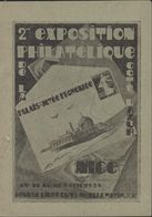 Entier Semeuse Camée 40ct Outremer Repiquage Commémoratif + CAD 2me Exposition Philatélique Nice 11 4 31 Palais Jetée - Postal Stamped Stationery