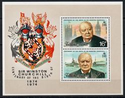 Falkland Islands - 1974 Sir Winston Churchill Centenary Birthday  Foglietto Nuovo - Falkland