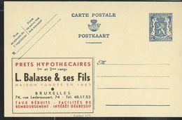 Publibel Neuve N° 475  ( Prêts Hypothécaires L. BALASSE & Ses Fils - Bruxelles) - Publibels