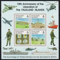 Falkland Islands - 1992 10th Anniversario Della Liberazione Nuovo Foglietto - Falkland