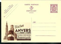 Publibel Neuve N° 367 ( Visitez ANVERS  Ville De Rubens Et De Plantin) - Entiers Postaux