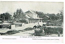 PORTUGAL-POSTCARDS-- TEMA-- ESTAÇÕES C. FERRO-- PORTO--PAREDES-- ESTAÇÃO CAMINHO DE FERRO - Porto
