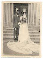 N°2 ANCIENNE GRANDE PHOTO, SCENE DE MARIAGE, COUPLE DE MARIES, NOCES A LOME, ANNEES 60, TOGO - Togo