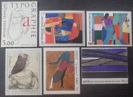 DF40266/1970 - 1985 - SERIE ARTISTIQUE - 6 TIMBRES NEUFS** - Francia