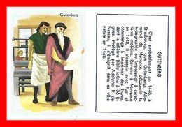 CHROMOS. Histoire. GUTENBERG...L162 - Artis Historia