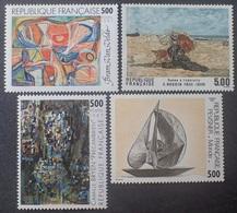 DF40266/1977 - 1987 - SERIE ARTISTIQUE - 4 TIMBRES NEUFS** - Francia
