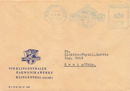 DDR Brief AFS 1960 Klingenthal VEB Weltmeister Harmonikawerke - Storia Postale