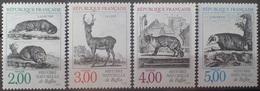 DF40266/1981 - 1988 - ANIMAUX DE L'HISTOIRE NATURELLE DE BUFFON (SERIE COMPLETE) - N°2539 à 2542 NEUFS** - Francia