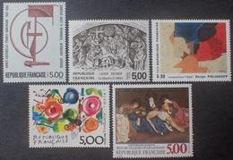 DF40266/1982 - 1988 - SERIE ARTISTIQUE - 5 TIMBRES NEUFS** - Francia