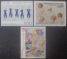 DF40266/1983 - 1989 - SERIE ARTISTIQUE - 3 TIMBRES NEUFS** - Francia