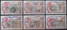 DF40266/1984 - 1989 - CELEBRITES DE LA REVOLUTION FRANCAISE (SERIE COMPLETE) - N°2564 à 2569 NEUFS** - Francia