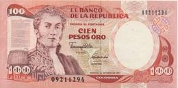 Colombie : 100 Pesos Oro 1991 UNC - Colombia