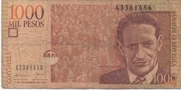 Colombie : 1000 Pesos 2005 (très Mauvais état) - Colombia