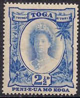 Toga Tonga 1920 KGV 2 1/2d Bright Ultramarine Umm SG 59 ( G1329 ) - Tonga (...-1970)