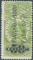 Republica De NICARAGUA 1909,Revenue Stamp,Overprinted 10c On 50c,Not Used - Nicaragua