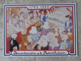 CP Bicentenaire De La Révolution Française Nuit Du 4 Aout Abolition Des Privillèges Ed Equinoxe - Histoire