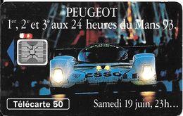 CARTE°-PUBLIC-F409-50U-SC5-07/1993-PEUGEOT 905-SAMEDI 23H-V° 5Pe 47011-Utilisé-TBE - France