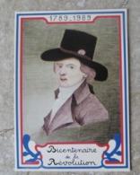 CP Bicentenaire De La Révolution Française Portrait De Babeuf Né à Saint Quentin  Ed Equinoxe - Storia