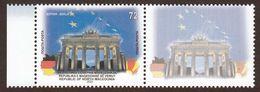North Macedonia 2020 European Union Europa Capitols Berlin Brandenburg Gate Brandenburger Tor Germany Flags + Label MNH - Macédoine