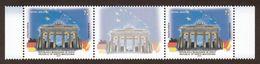 North Macedonia 2020 European Union Europa Capitols Berlin Brandenburg Gate Germany Flags Middle Row MNH - Macédoine