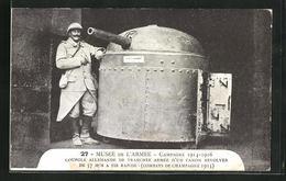 CPA Musee De L`Armee, Coupole Allemande De Tranchèe Armèe D`un Canon Revolver, Artillerie - Unclassified
