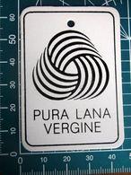 PURA LANA VERGINE ETICHETTA CARTONE ORIGINAL - Vintage Clothes & Linen