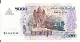 CAMBODGE 1000 RIELS 2007 UNC P 58 B - Cambogia