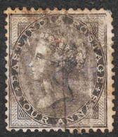 India - Scott #16 Used (2) - Heavy Cancel - India (...-1947)