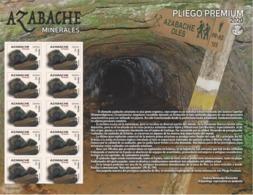 ESPAGNE SPANIEN SPAIN ESPAÑA 2020 MINERALS: AZABACHE PREMIUN PANE 10V MNH ED 5405 MI 5441 YT 5144 - 2011-... Unused Stamps