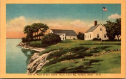 "Maine Portland View Of ""Pearl Of Orr's Island"" House Dexter Press - Portland"