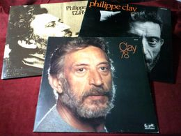 PHILIPPE  CLAY    COLLECTION  DE  9   / 33 TOURS  DIFFERENT - Collections Complètes