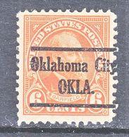 U.S. 558  *   O K  CITY   Perf. 11  1923-25  Issue - United States