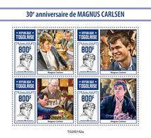 Togo  2020   Magnus Carlsen ,  Chess  S202005 - Togo (1960-...)