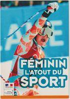 PUBLICITE SPORTS D'HIVER SKI CAROLLE MONTILLET CHAMPIONNE OLYMPIQUE FÉMININ L'ATOUT DU SPORT - Sports D'hiver